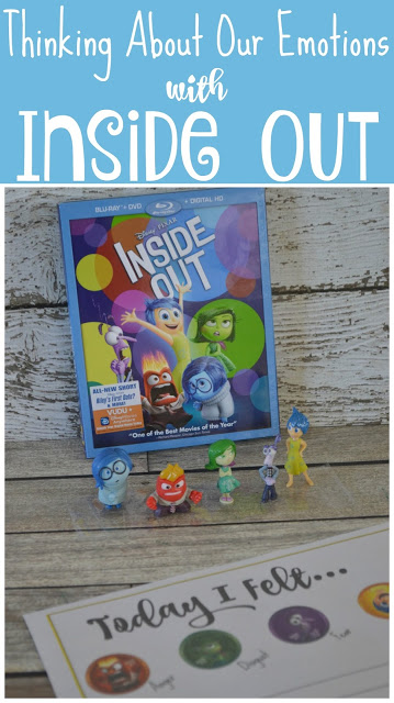 Thinking About Our Emotions with Inside Out {Free Printable}, Inside Out DVD, Inside Out Toys, Inside Out, Inside Out printable, Inside Out FREE Printables, Thinking About Our Emotions with Inside Out {Free Printable}, Emotions worksheet for kids,