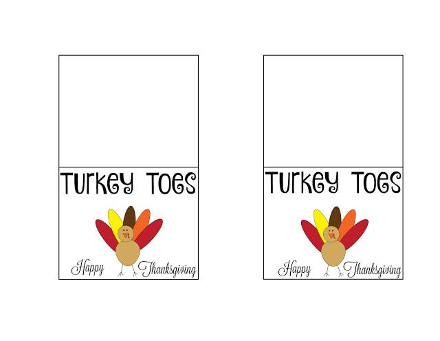 Turkey Toes Treat Bags {FREE Printable}, turkey toes printable, turkey toes, Thanksgiving treat bags, Thanksgiving treats,