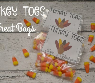 Turkey Toes Treat Bags {FREE Printable}