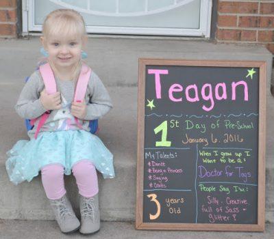 Teagan's First Day of Preschool