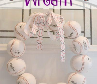 Baseball Door Wreath #DIY