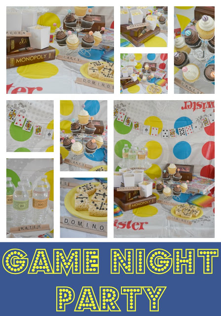 game night party, game night party ideas, fun party ideas for all ages, board game party ideas, board game party, Candy Land cupcakes, Monopoly party, DIY Playing Card Garland, make your own playing card garland, playing card garland, Domino Rice Krispies Treat, domino rice krispie treats,