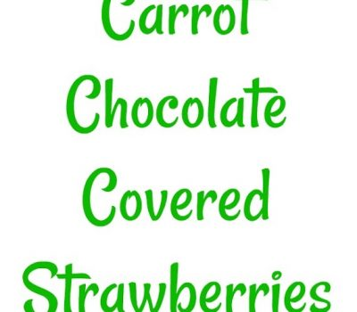 Easter Carrot Chocolate Covered Strawberries