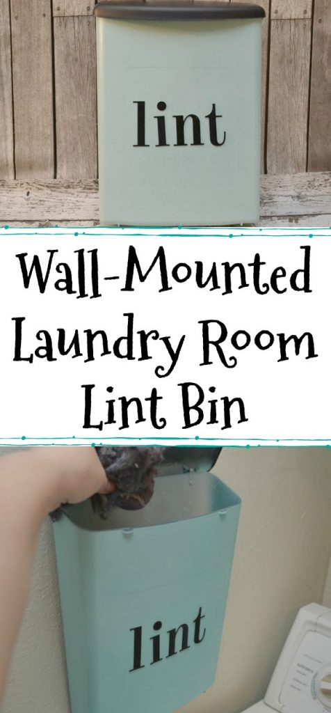 DIY Wall-Mounted Laundry Room Lint Bin, DIY laundry room lint container, lint bin, laundry room lint bin, creative space savers for laundry room, Laundry room containers