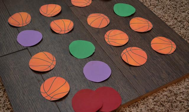 DIY Basketball Memory Game, basketball memory game, basketball themed games, DIY memory game, free printable basketball memory game