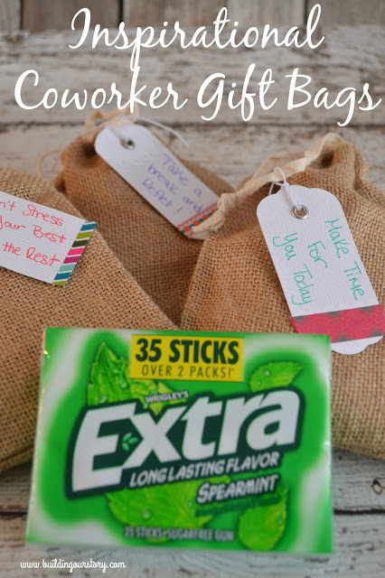 Inspirational Coworker Gift Bags with Extra® Gum, Inspirational Coworker Gift Bags, creative gift bags, coworker gifts, gifts for coworkers, easy inspirational gift bags, Inspirational Coworker Gift Bags with Extra® Gum