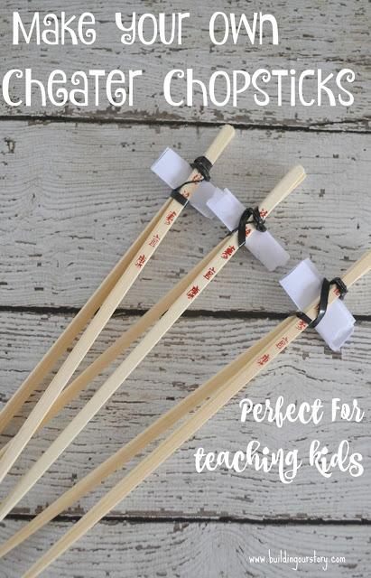 DIY cheater chopsticks for kids, chopsticks for kids, DIY chopsticks for kids, Asian food at home, Asian food recipes, take out at home, Innovasian rewards, tips on teaching kids to use chopsticks