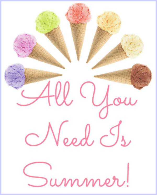 printable, summer printables, all you need is summer printable, ice cream clip art.