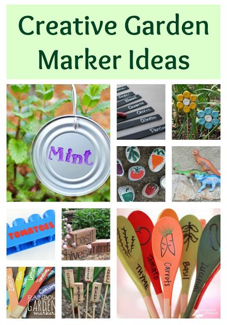 Creative Garden Marker Ideas, garden markers, DIY garden Markers, gardening ideas, fun garden ideas, fun herb markers, fun garden marker