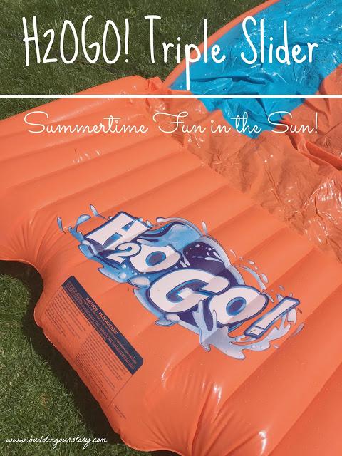 Doodle Glow Pool, Color Wave Pool, Tether Ball Splash, H2OGO! Water Slide, backyard, water slide, inflatable kids pools, light up inflatable kids pools, backyard water toys, Triple Slider #Giveaway , H2OGO! giveaway, H2OGO giveaway,