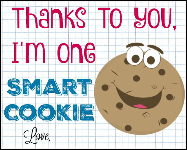 end of the year teacher gift, teacher gifts, DIY teacher gifts, One Smart Cookie teacher gift, Monster Cookies in a Jar, cookies in a jar, cookies in a jar recipe,