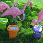 Summertime Flamingo Ring Toss Game