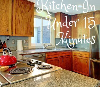 Clean Kitchen In Under 15 Minutes