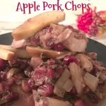 Crockpot Cranberry & Apple Pork Chops