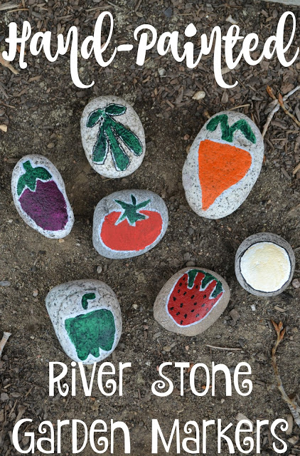 Hand Painted River Stones Garden Markers