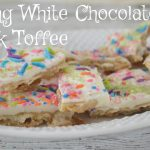 Spring White Chocolate Crack Toffee