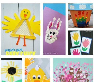 Handprint Spring Crafts for Kids