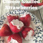 Blueberry Cream Cheese Stuffed Strawberries