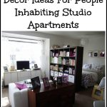 Décor Ideas For People Inhabiting Studio Apartments