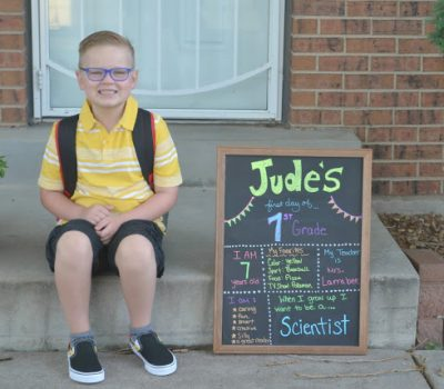 Jude's 1st Day of FIRST Grade!