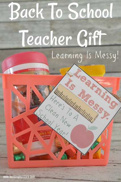Back To School Teacher Gift – Learning Is Messy!