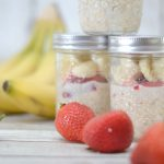 Strawberry Bananamilk Overnight Oats