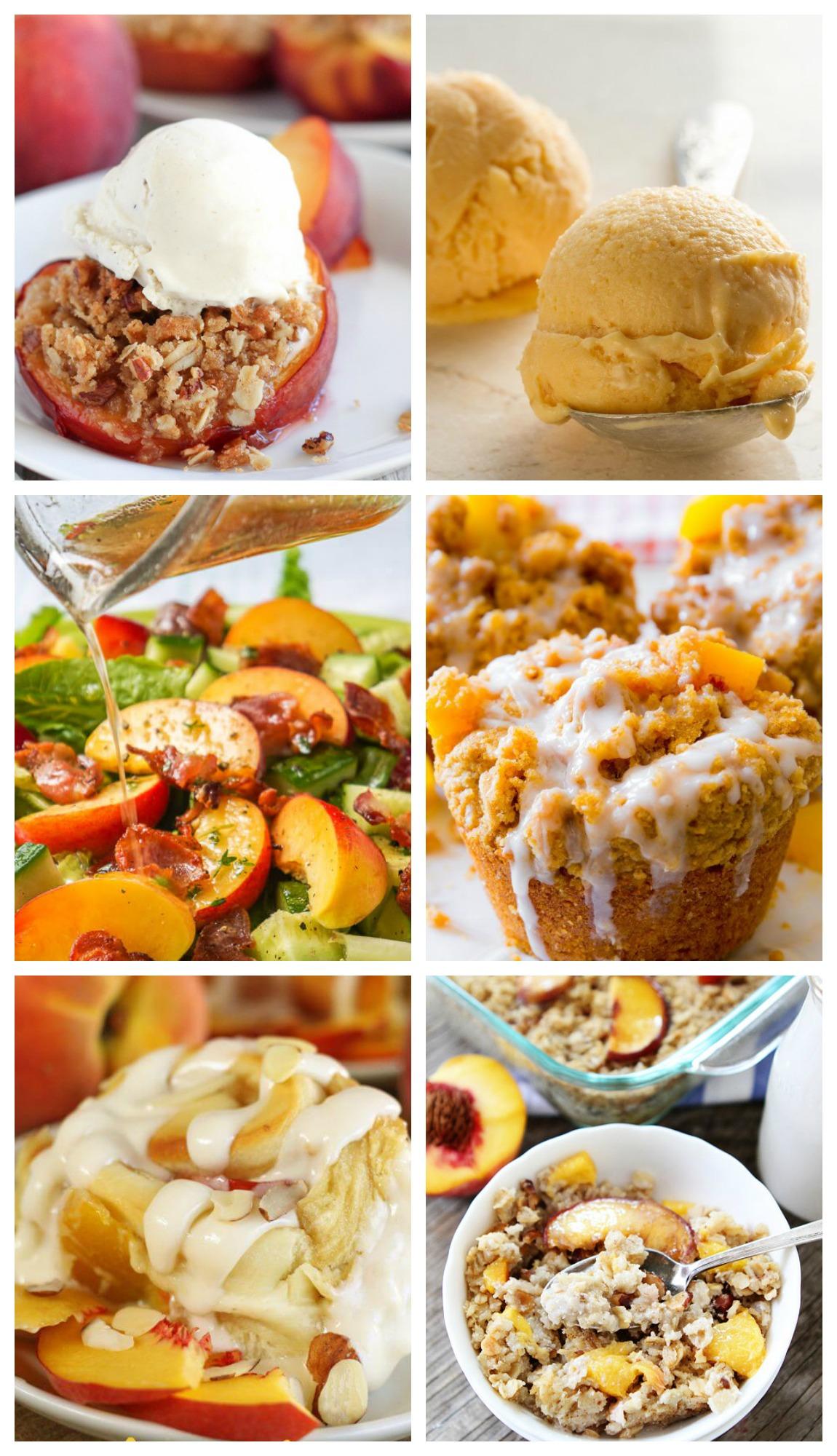 peach recipes, recipes using peaches, fresh peaches in recipes, easy peach recipes, Peach desserts, peach cobbler, peach oatmeal, peach cookies, peach muffins, grilling peaches, peach ice cream, fresh peaches