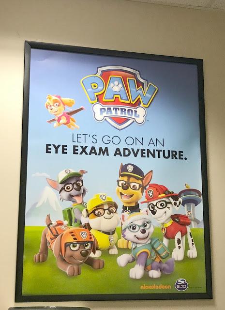 Back-to-School with Visionworks and PAW Patrol, eye exams for kids, PAW Patrol at Visionworks, eye exams for kids, when do you take kids to the eye doctor, eye doctor for kids, eye exam tips for kids
