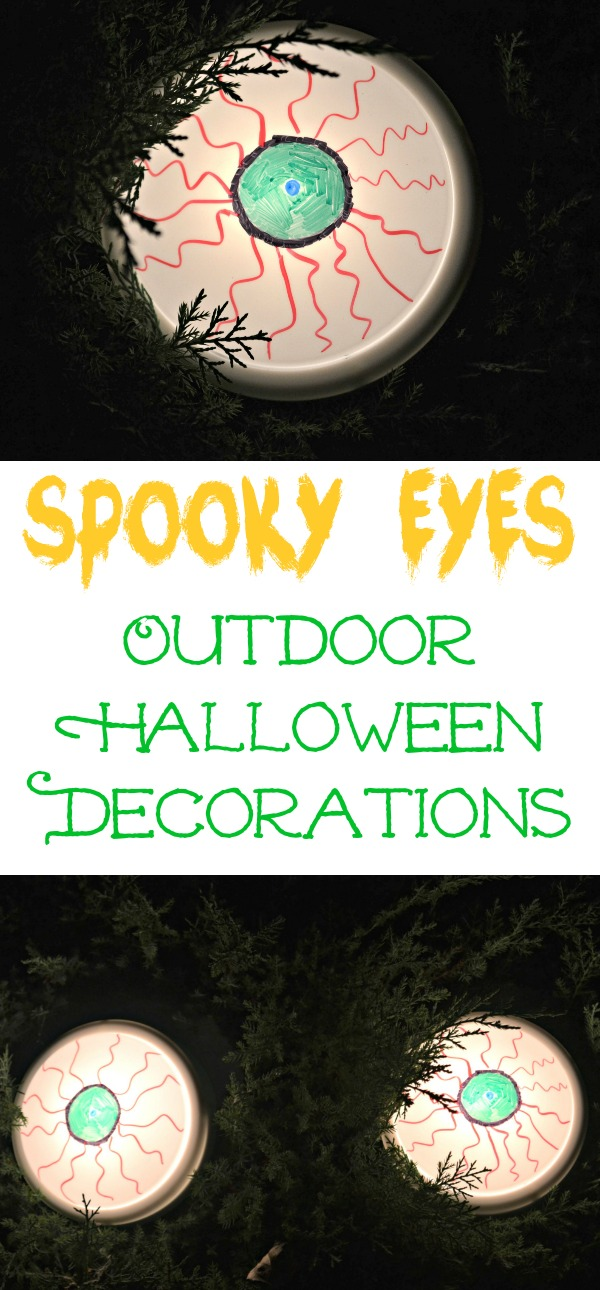 Spooky Eyes Outdoor Halloween DIY Decor | Building Our Story