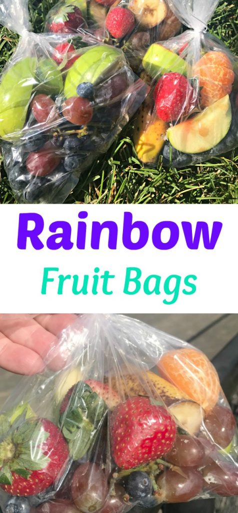 Rainbow fresh fruit snacks, rainbow fruit cups, rainbow fruit bags, fresh fruit recipes, fresh fruit snacks, snacks for after sports, healthy snacks, easy snacks, baseball snacks