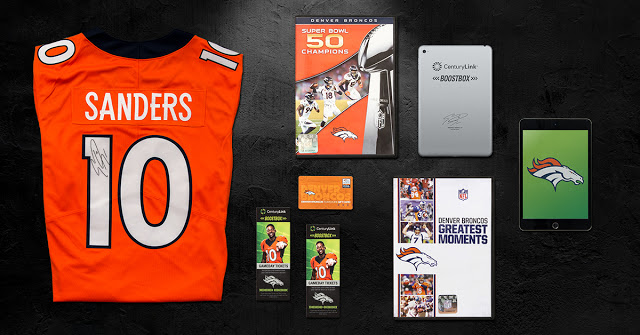 Denver Broncos CenturyLink Boostbox, CenturyLink Boostbox sweepstakes, bronco sweepstakes