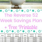 The Reverse 52 Week Savings Plan + Free Printable