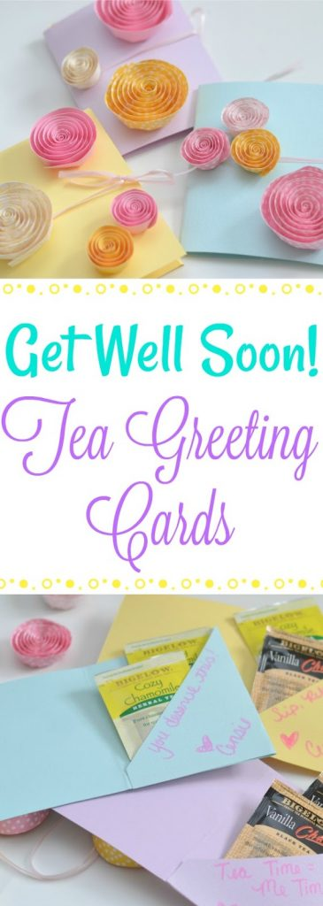 Get Well Soon Tea Greeting Cards, DIY greeting cards, make tea bag greeting cards, how to make tea bag greeting cards, DIY cards, get well soon cards
