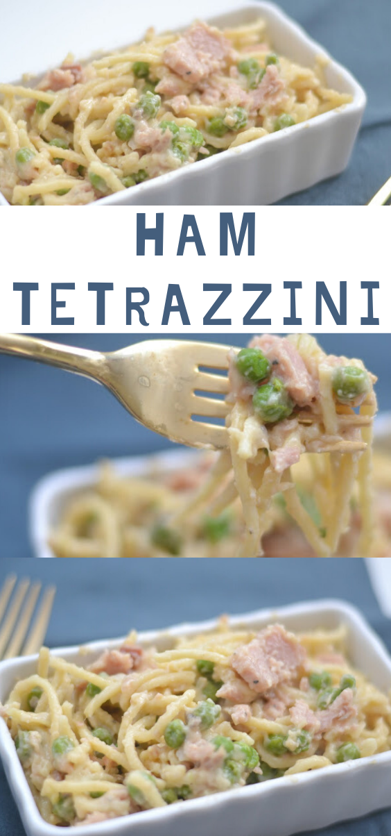 Ham Tetrazzini, Ham Tetrazzini recipe, easy Ham Tetrazzini recipe, recipe using leftover ham, leftover ham, recipe using ham, pasta recipe, one skillet meal, one pot meal, easy dinner recipes, dinner recipes with peas