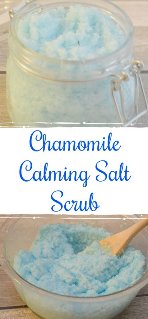 Chamomile salt scrub, make your own bath scrub, make your own salt scrub, chamomile salt scrub