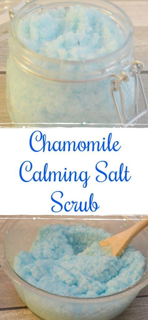 Chamomile salt scrub, make your own bath scrub, make your own salt scrub, chamomile salt scrub