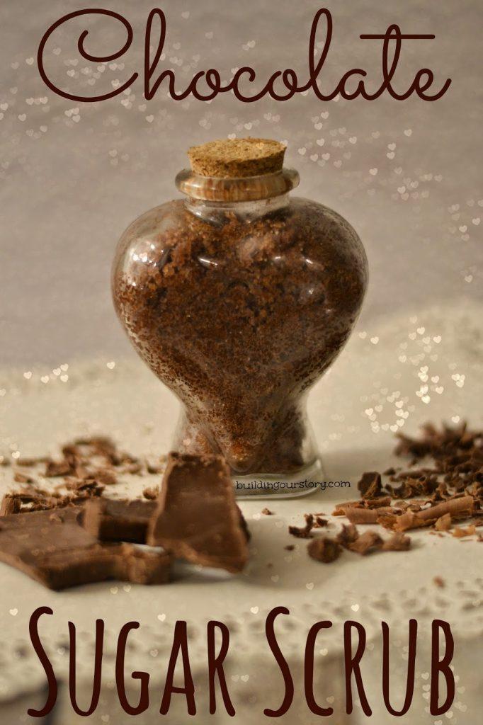 chocolate sugar scrub, sugar scrub, make your own sugar scrub, DIY chocolate sugar scrub,