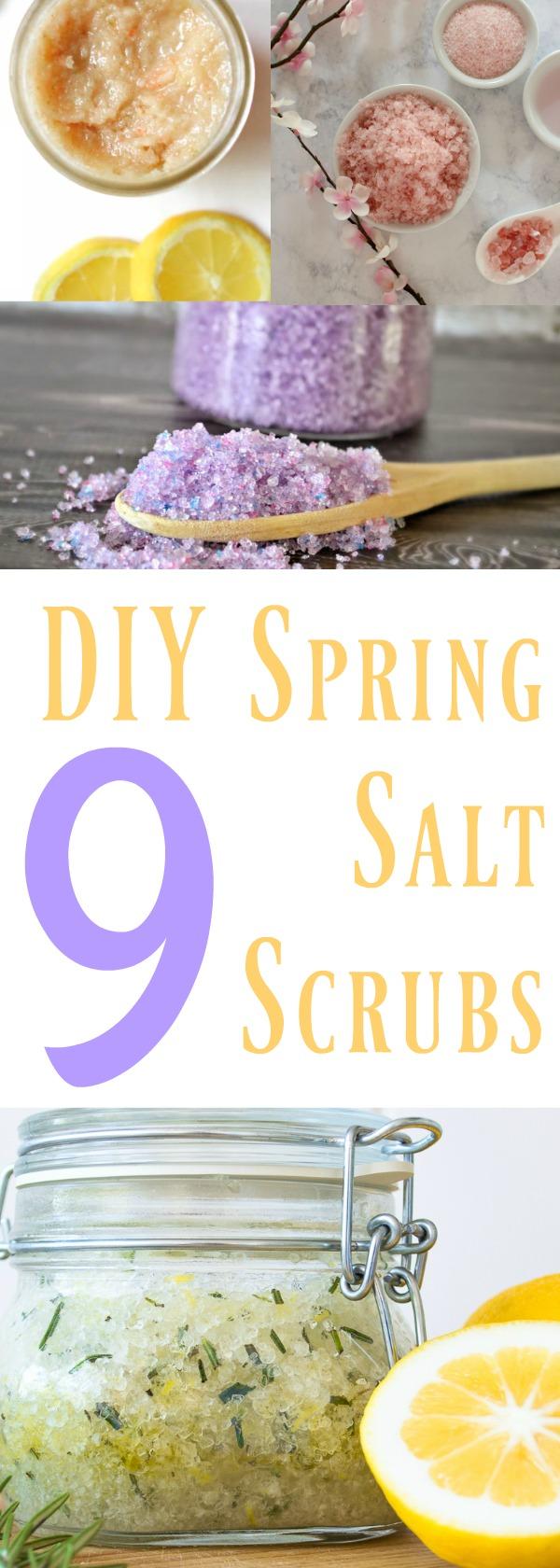 Make your own Salt Scrubs, DIY salt Scrubs, best DIY salt Scrubs, 9 DIY Spring Salt Scrubs, DIY Spring Salt Scrubs