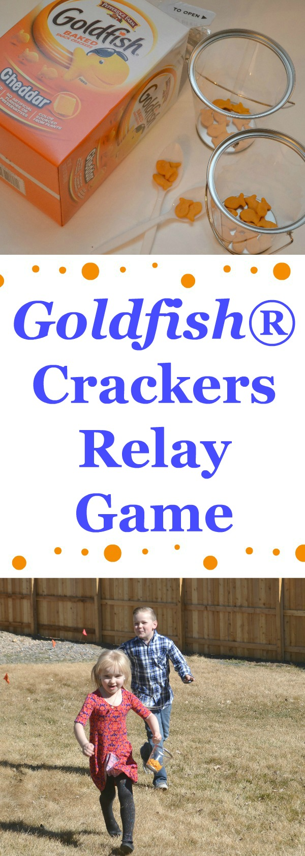 Goldfish® Relay Game For Kids, Goldfish games, games using goldfish crackers, creative games using Goldfish crackers, relay games for kids, easy relay games for kids, outside relay games for kids, springtime games for kids
