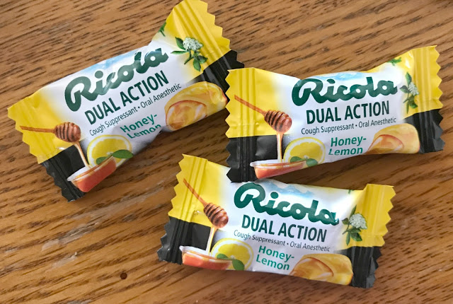 Waving Goodbye To A Cough & Sore Throat, Ricola Duel Action Honey Lemon Drops, sore throat remedies, natural relief for cough and cold, natural relief for cough, natural relief for sore throat, honey and lemon for sore throat