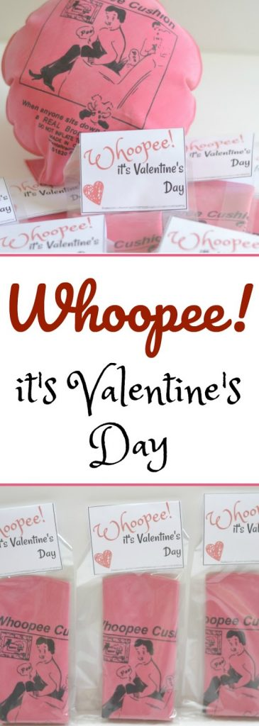 Whoopee it's Valentine's Day printable, candy-free Valentine's Day printable, candy-free Valentine's day idea, candy-free Valentine's day treat for kids, Whoopee Cushion Valentine, Valentine printables, Hilariously Funny & Simple Valentine Printable, Candy-free Valentines, printable valentines, free printable valentines for kids, easy Valentines for kids, DIY candy free valentines, Valentine's Day printables, Valentine's for kids,
