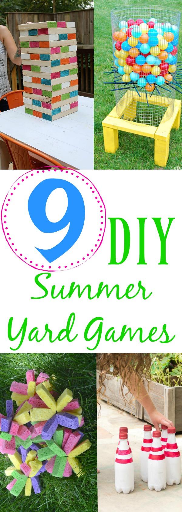 9 diy summer yard games, make your own outdoor games, DIY outdoor games, DIY yard games for kids, DIY yard games, fun games for the backyard, backyard games, backyard DIY games