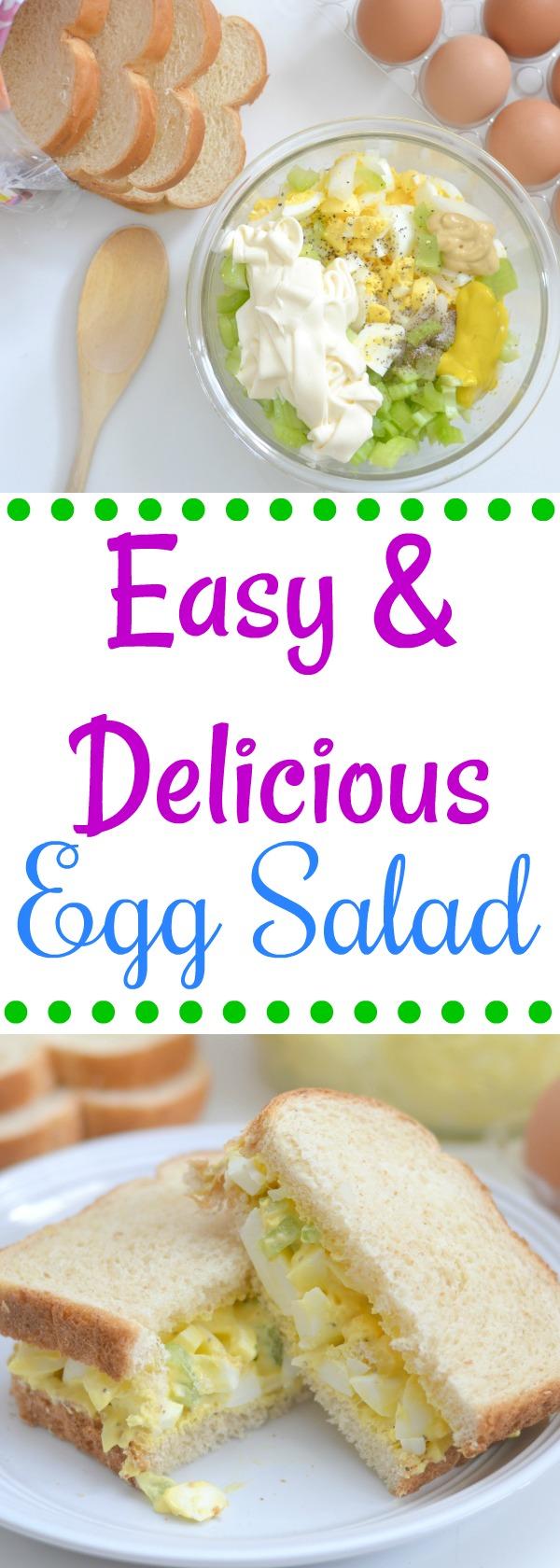Easy & Delicious Egg Salad, egg salad recipe, egg salad, easy egg salad recipe, the best egg salad recipe, egg salad sandwich, how to make egg salad, sandwiches,