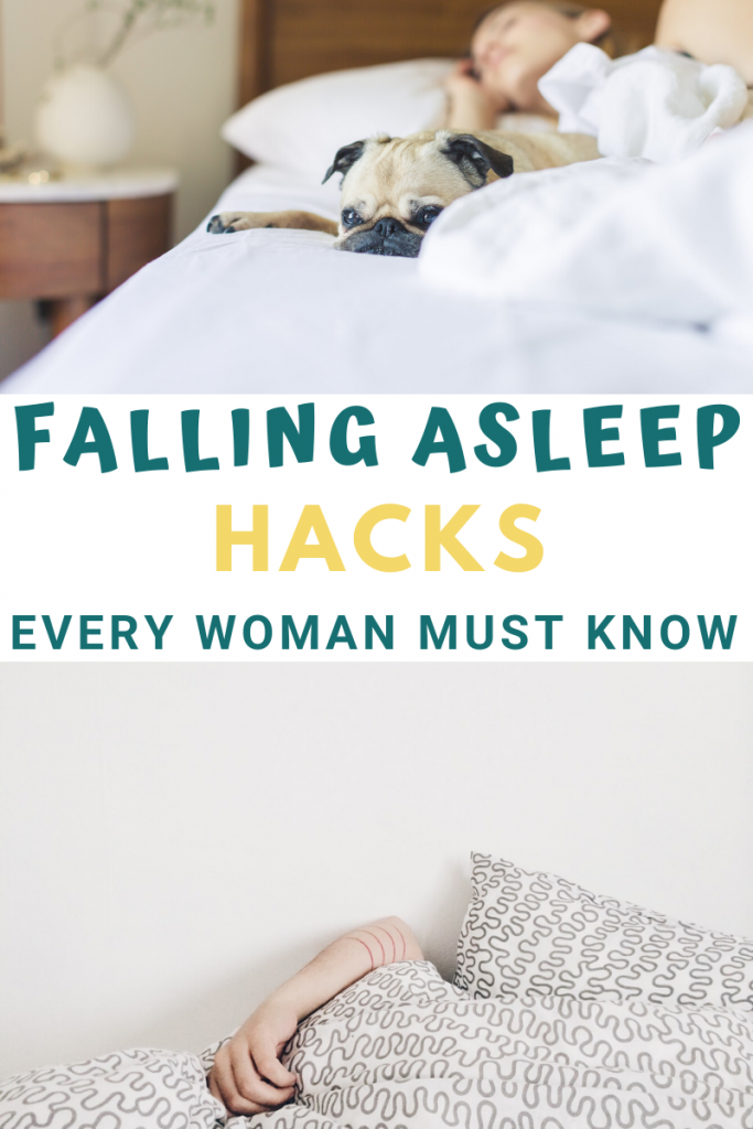 Falling asleep hacks every woman must know, how to fall asleep fast, sleeping tips, healthy sleep patterns, how to get to sleep fast, getting more sleep everyday, how to go to sleep quick