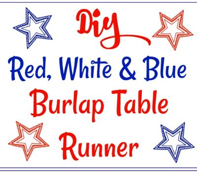 Red, White & Blue Burlap Table Runner