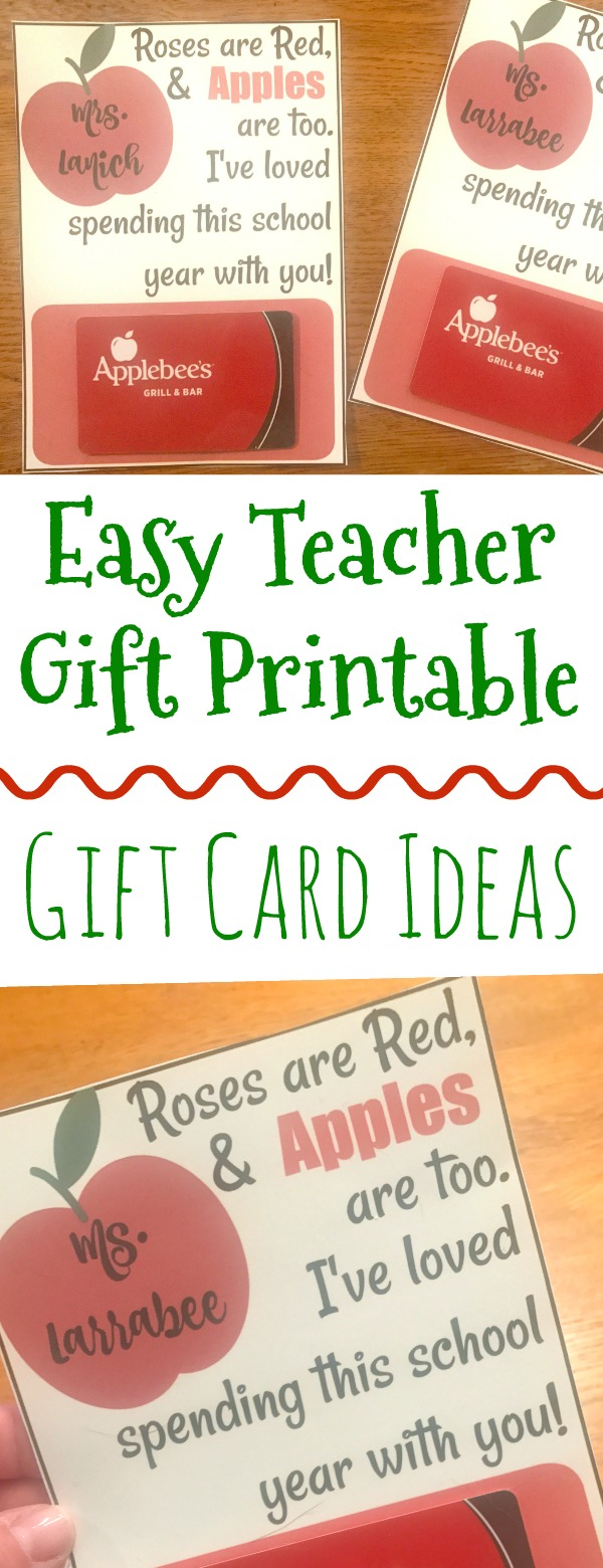 easy teacher gifts, end of the year teacher gift ideas, gift cards for teachers, free printables for teachers, free printables for teachers, teacher gifts, gifts for teachers, easy teacher gifts