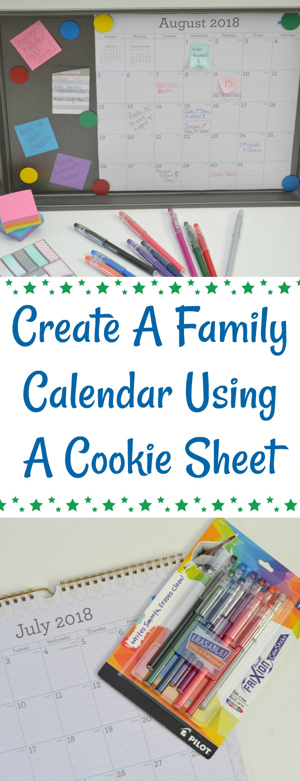 Create A Family Calendar Using A Cookie Sheet, making a calendar out of a cookie sheet, magnetic calendar, diy magnetic calendar, diy family calendar, diy family planner