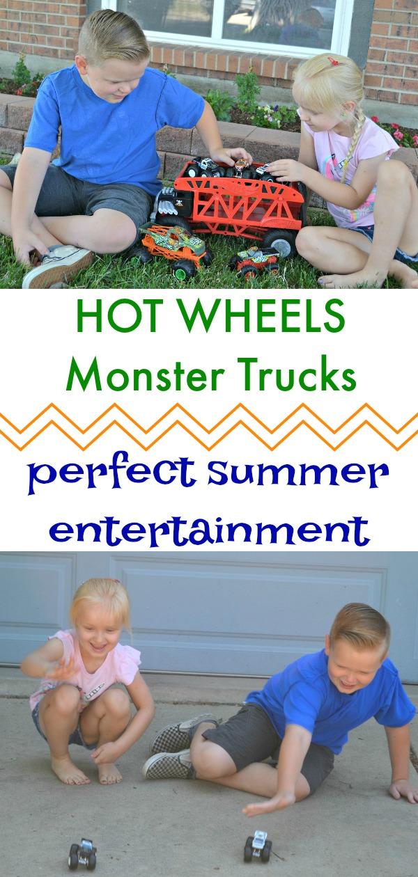 HOT WHEELS Monster Trucks Perfect summer entertainment, summer projects for kids, summer activities for kids, easy activities for kids, outdoor activities for kids, monster trucks