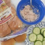 Tuna Salad & Cucumber Sliders - A Perfect Kid Size School Lunch