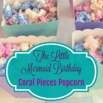 Little Mermaid Birthday: Coral Pieces Popcorn
